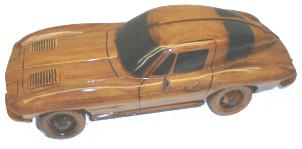 Mahogany Model Corvette