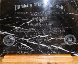 laser engraved diploma black white