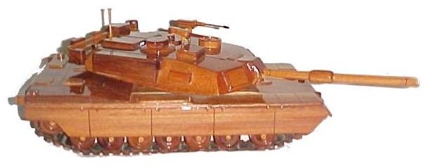 wooden model Tank, Mahogany model tank,