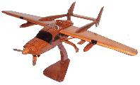 O-2 Skymaster Cessna 337  wood wooden mahogany airplane plane aircraft desktop models
