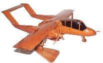 Ov-10 Bronco natural mahogany wood, wooden desktop model airplane, aircraft models