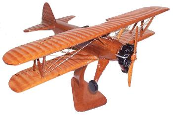 Stearman Biplane model, wooden model airplanes aircraft out of wood