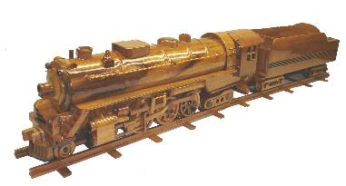 Mahogany Model Train, wooden model train,