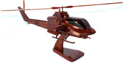 AH-1G Cobra model, ah1g  wood model , ah1g desk top model, Natural wood model