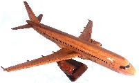 Airbus 320 Wood model airplane