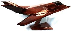 F-117 Stealth Fighter wood model airplane