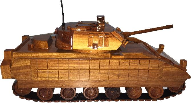 M2 Bradley Model Natural Wood