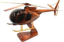 Wood OH6 Cayuse helicopter model