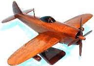 P-47 Thunderbolt wooden model airplane
