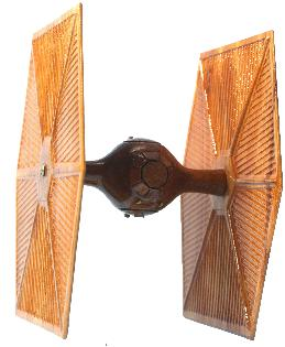 Tie Fighter model wood