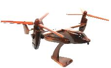 V22 OSPREY MODEL AIRPLANE WOOD