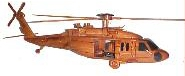 wooden blackhawk helicopter model