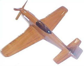 P-51 Mustang Plane wood, wooden mahogany desktop model airplane aircraft plane airplanes planes