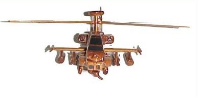 AH-64 Wood Desktop Helicopter Model  Wooden Helicopters  Wood helicopter models Mahogany Helicopter  Mahogany Helicopter