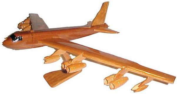 B-52 airplane model,  wooden model airplane wooden model aircraft, mahogany wooden model