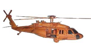 UH-60 Blackhawk Wood Desktop Helicopter Model  Wooden Helicopters  Wood helicopter models Mahogany Helicopter