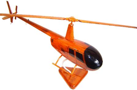 Robinson 44 Wood Desktop Helicopter Model  Wooden Helicopters  Wood helicopter models Mahogany Helicopter