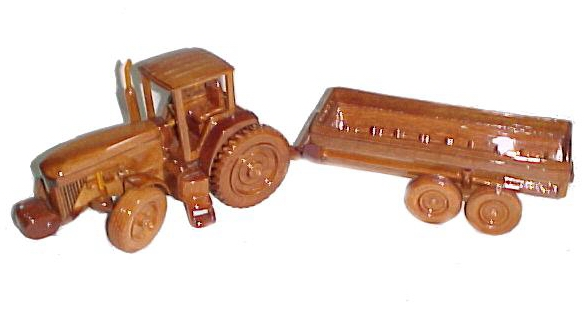 Mahogany Model Tractor