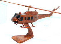 Uh-1 Huey slick Model, wood model wooden helicopter model deskto  Model